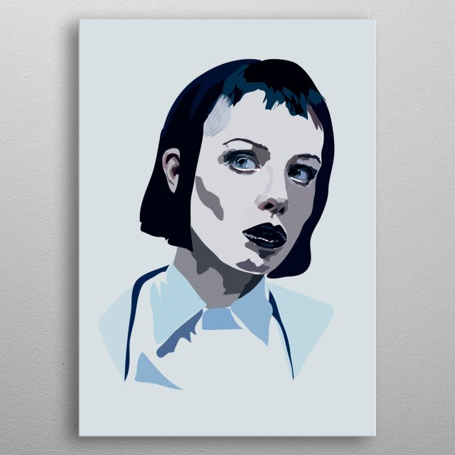 Alice Glass metal poster