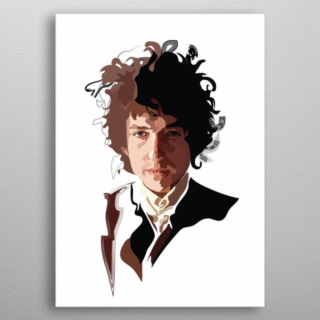 Bob Dylan metal poster