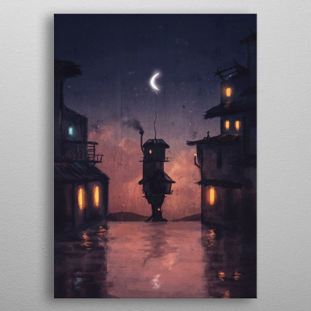 Blankets of Night metal poster
