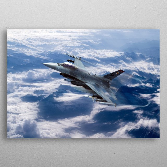 F16 Fighting Falcon.  US Air Force F16 fighting falcon  metal poster