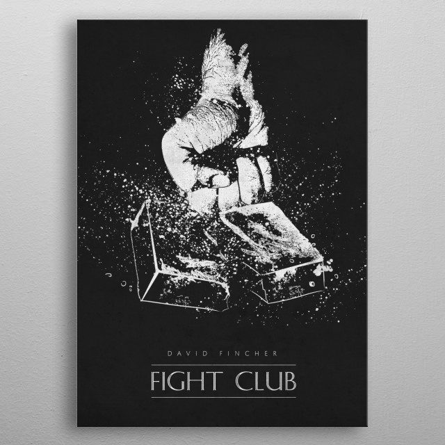 Fight Club metal poster