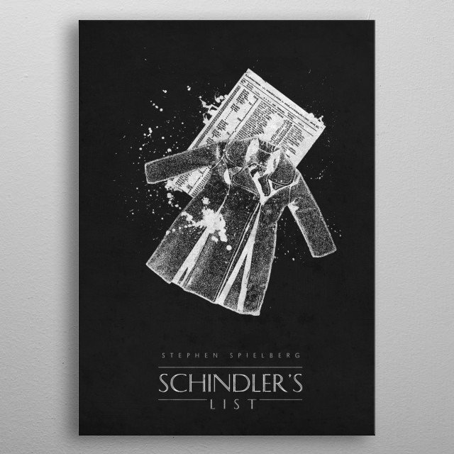 Schindler's List metal poster