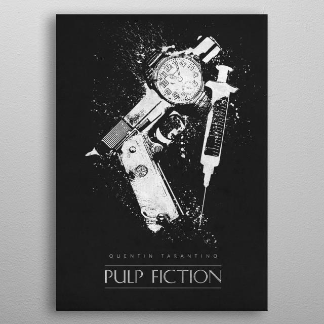 Pulp Fiction metal poster