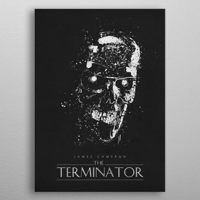 The Terminator metal poster