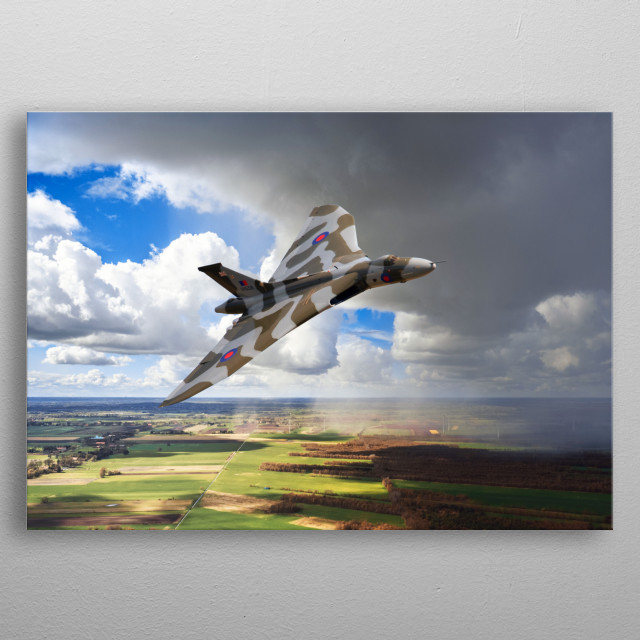 Avro Vulcan Bomber XH558, the last flying Vulcan Bomber metal poster