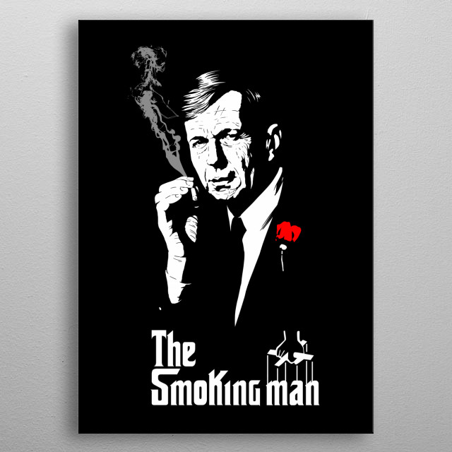The Smoking Man metal poster