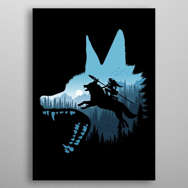 Tribute a cult characters metal poster