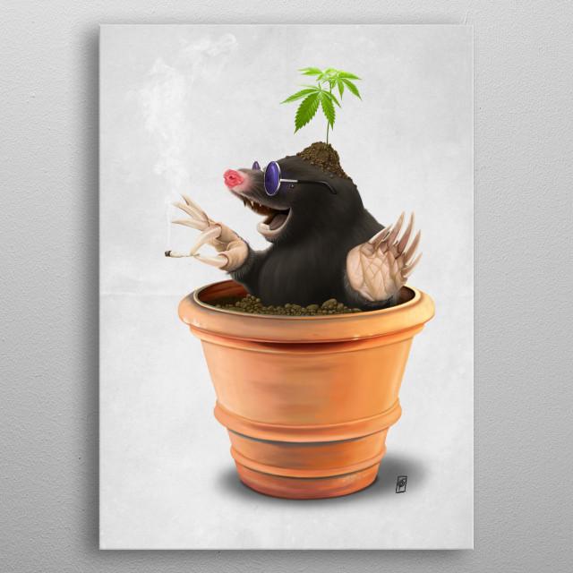 Pot (wordless) metal poster