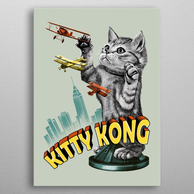 Kitty Kong metal poster