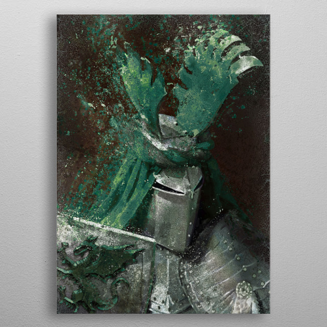 Green Knight metal poster