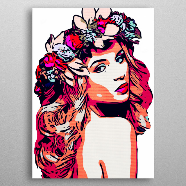 Comic Beauty by Lisa Guen Design metal poster