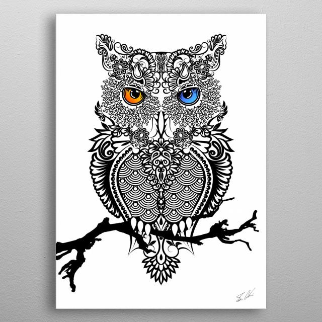 The Owl metal poster
