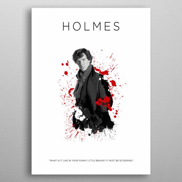 Sherlock Holmes metal poster