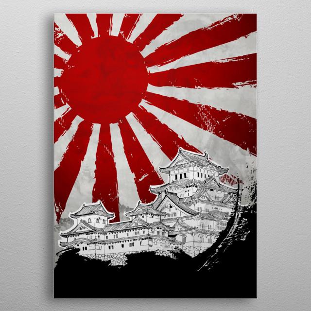 Japanese Palace metal poster