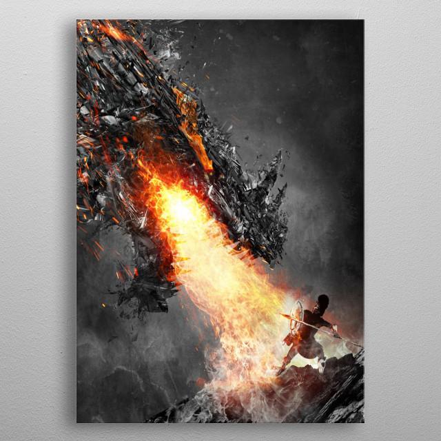 Brave men metal poster