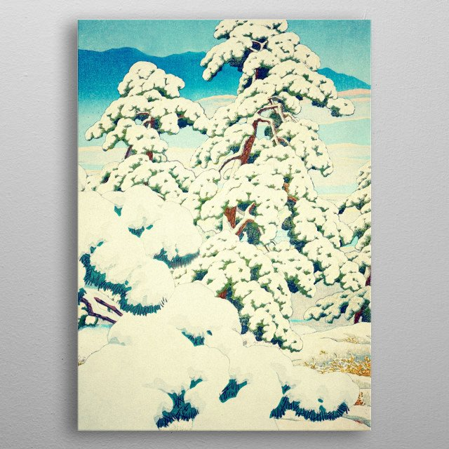 I am deeply inspired by the masters of Japanese Ukiyo-e painting, and aim with my pieces to convey a deeply evocative and somewhat reminiscen... metal poster