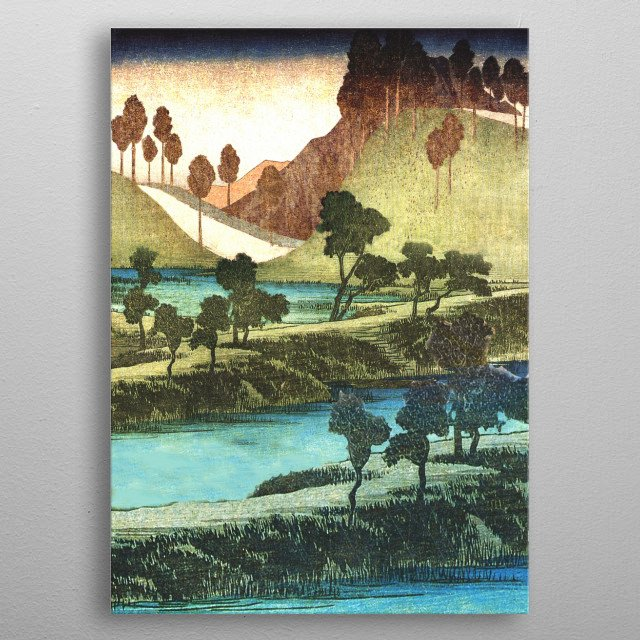 I have chosen to mix drawing, painting and digital collage to mix and match pieces present in my favorite Ukiyo-e pieces – some very well k... metal poster