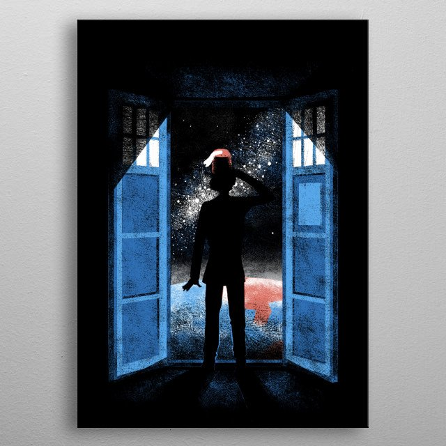 It's bigger on the outside metal poster