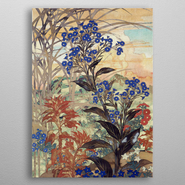 I am deeply inspired by the masters of Japanese Ukiyo-e painting, and aim with my pieces to convey a deeply evocative and somewhat reminiscent picture of a past both foreign and beautiful, where notions of time and enjoyment had very different connotations. metal poster