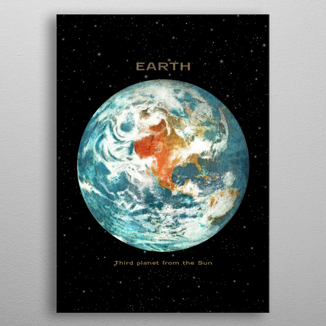 Earth metal poster