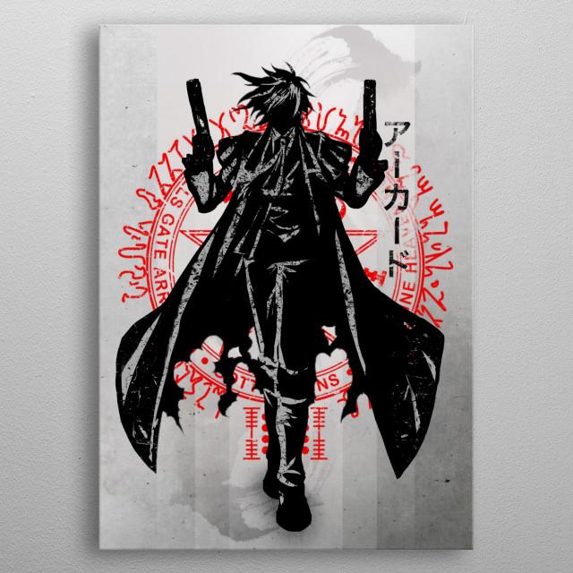 Crimson Alucard metal poster