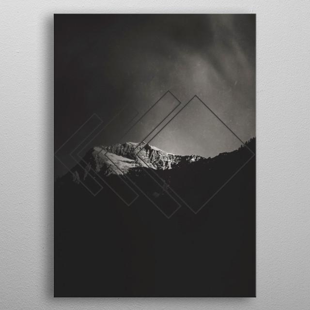 berg view of mountain in morning light  metal poster