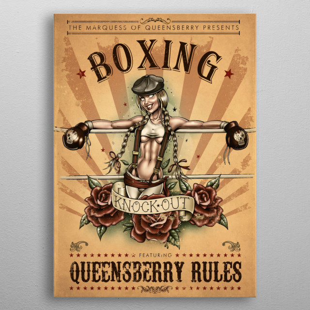 Queensberry Rules metal poster