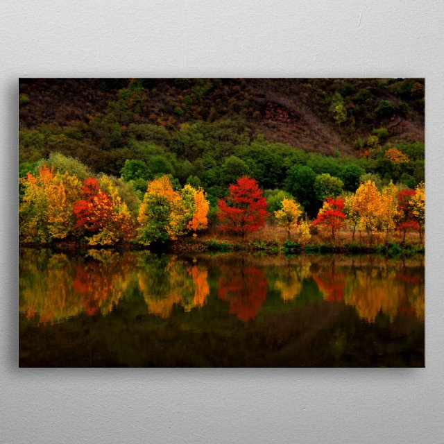 Colours of Autumn metal poster
