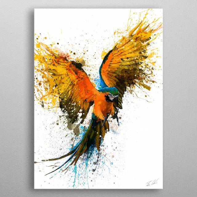 The Parrot metal poster