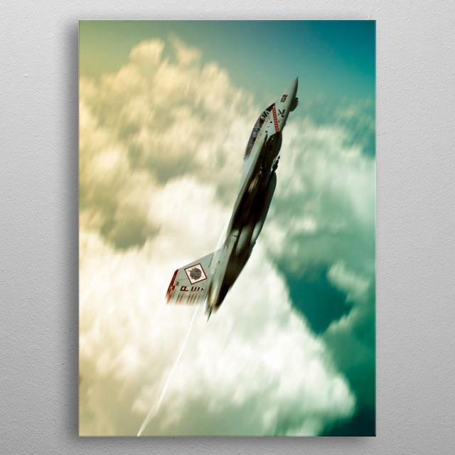 US Navy F14 Tomcat climb metal poster