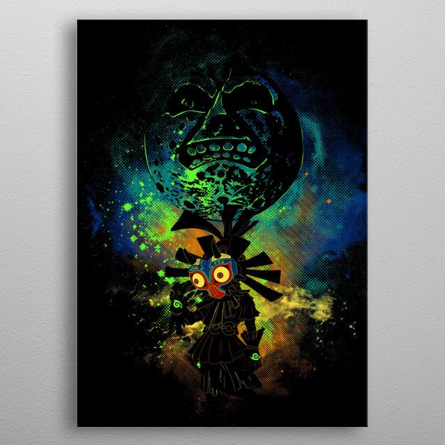 Majora's Art metal poster