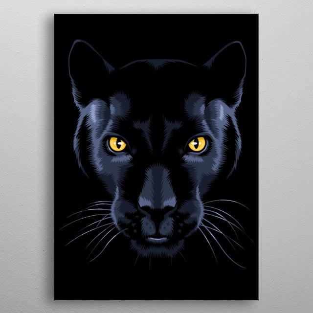 Black Panther metal poster