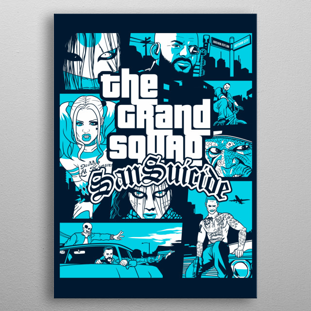 The Grand Squad metal poster