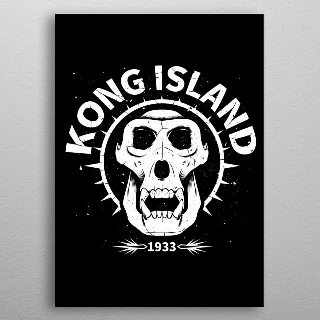 Kong island metal poster