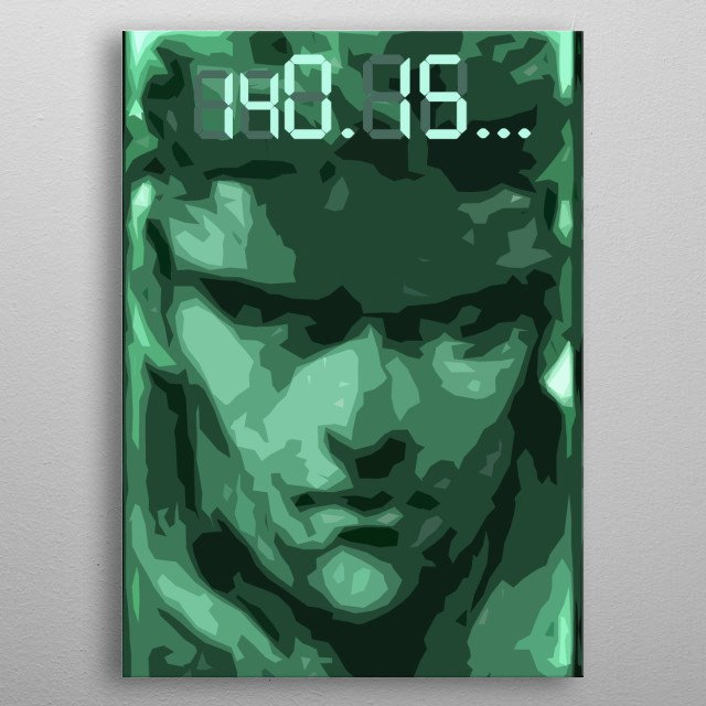 Solid Snake and the legendary codec channel. metal poster