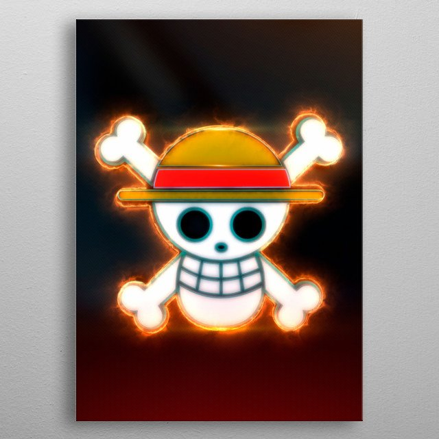 3D Luffy Flag Emblem. (modeling, post-production, edition  metal poster