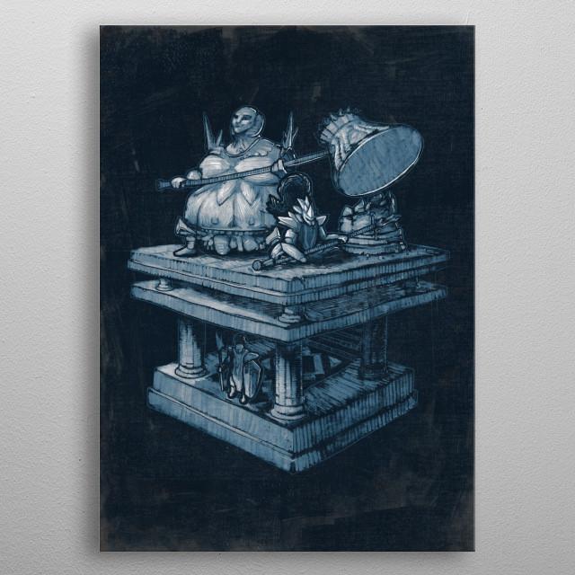 Ornstein and Smoughby Ronan Lynam / Dark Souls / Video Games / Concept Art / Fan Art / Anor Londo / Dark Souls i ii iii metal poster