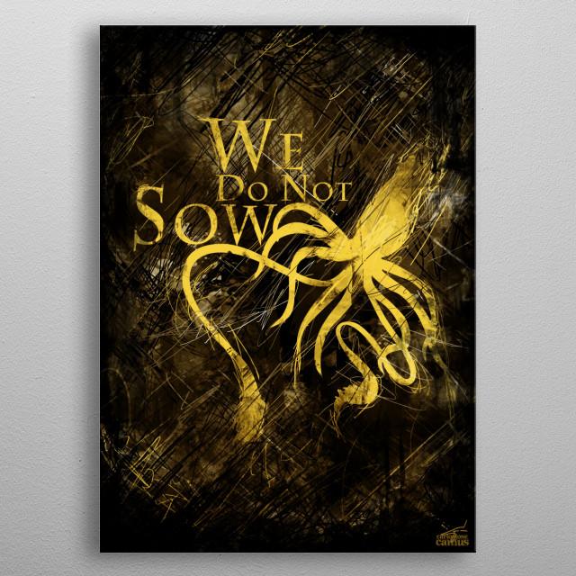 Black Kraken metal poster