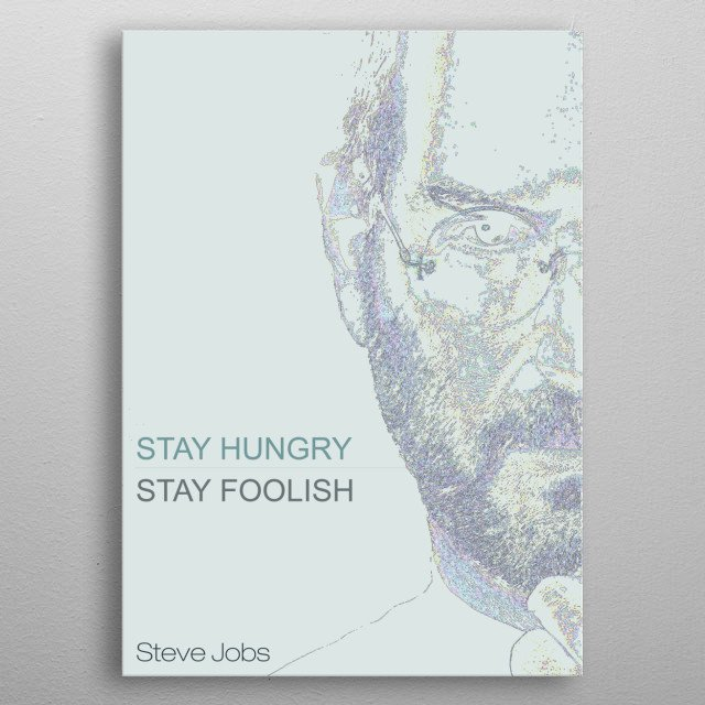 Steve Jobs inspiring quote metal poster
