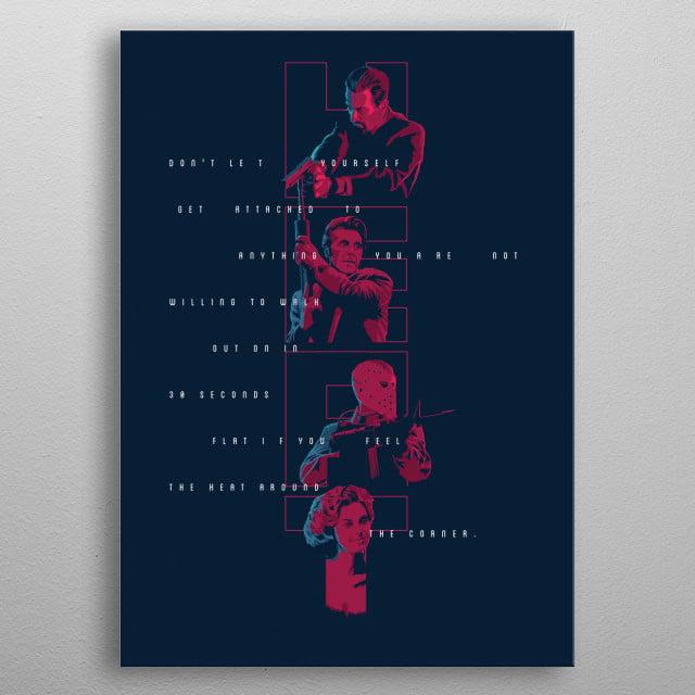 Heat - alternative movie poster metal poster
