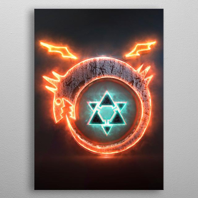 3D FMA Homunculus Emblem. (modeling, post-production, edition  metal poster