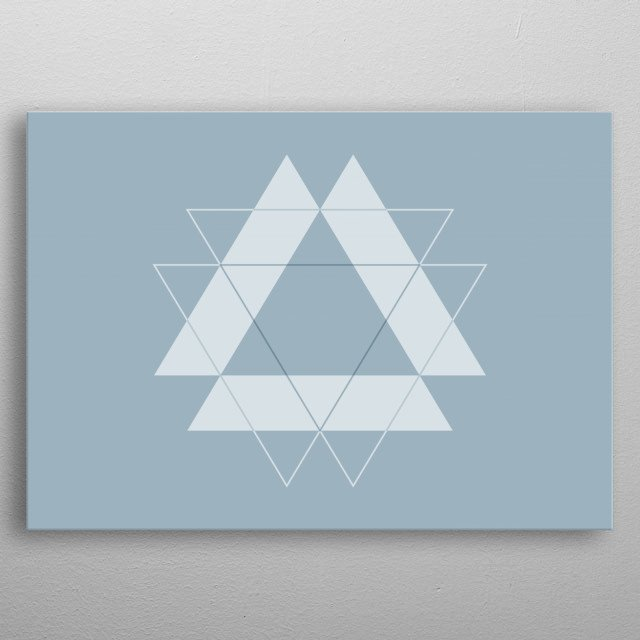 Symmetrical Geometric Design #1 metal poster