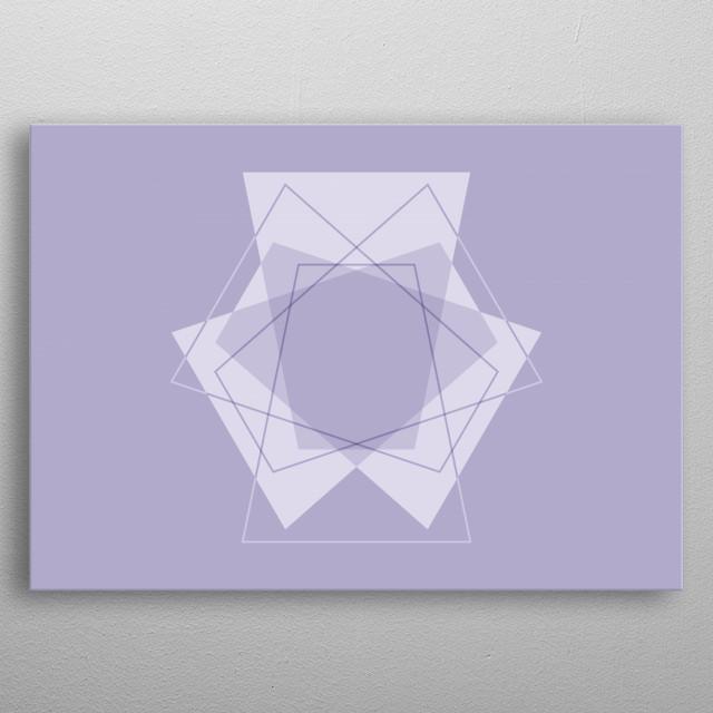 Symmetrical Geometric Design #2 metal poster