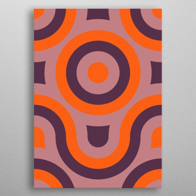 purple and orange geometric abstract metal poster