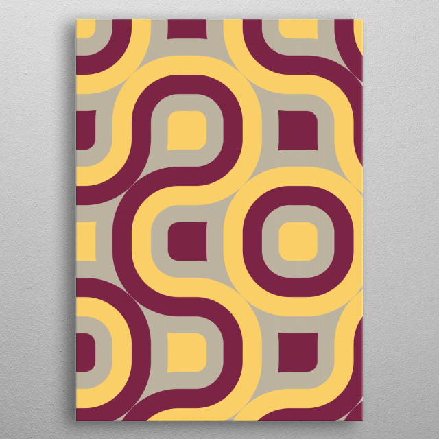 pink and yellow geometric abstract metal poster