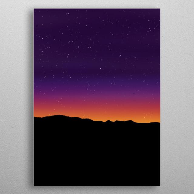 Aurora Horizon abstract metal poster