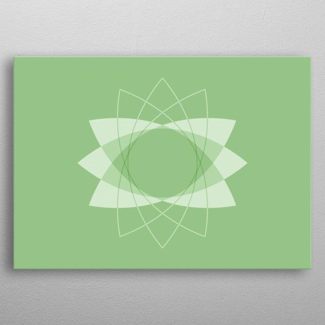 Symmetrical Geometric Design #3 metal poster