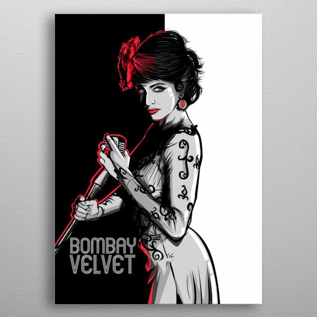 Anushka Bombay Velvet metal poster