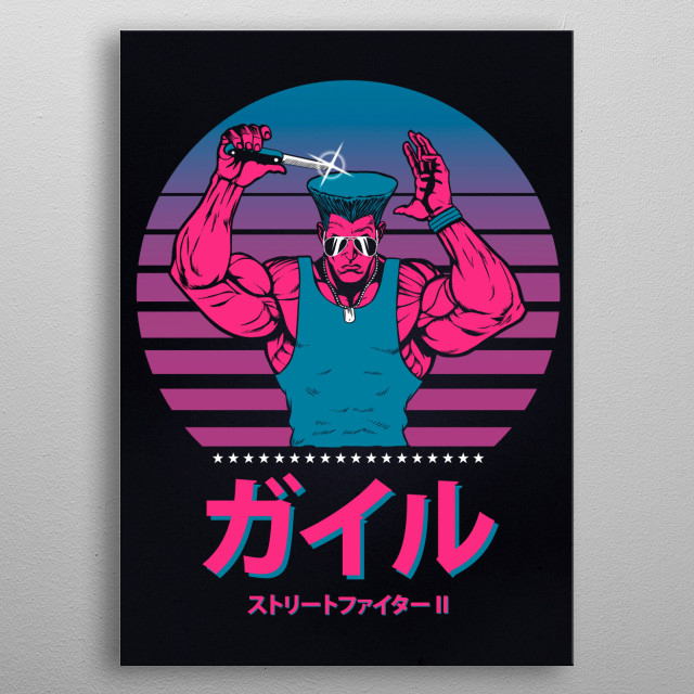 Guile 80's style :) metal poster