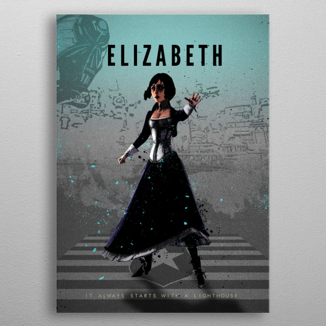 Legends of Gaming - Elizabeth metal poster